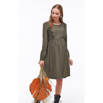 Платье для беременных Victoria хаки 1644