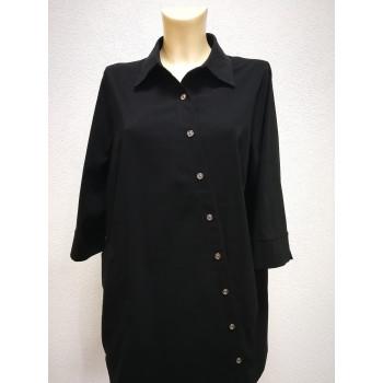 Блуза для беременных Victoria черная косая 0424