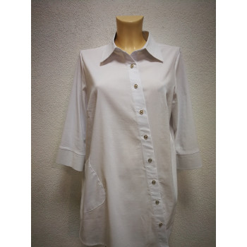 Блуза для беременных Victoria  белая косая 0423