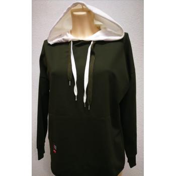 Джемпер для беременных Victoria муфта зеленый 0448