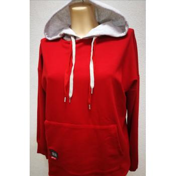Джемпер для беременных Victoria муфта красный 0446