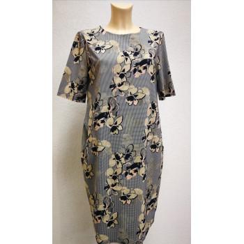 Платье для беременных Victoria баллон цветы 1624