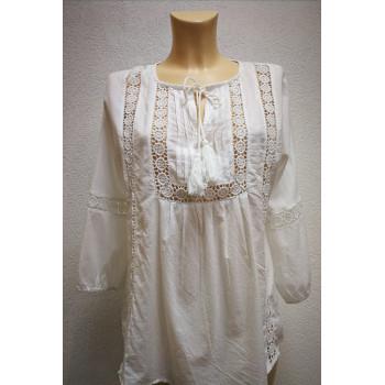 Блуза для беременных Victoria шитье белая 0425